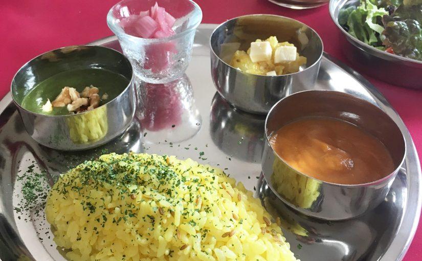 円山公園 山の上のお料理教室で糀カレー